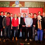 Viele junge Mitglieder der SPD Schwabing.Alte Heide mit OB Dieter Reiter und Florian Post MdB