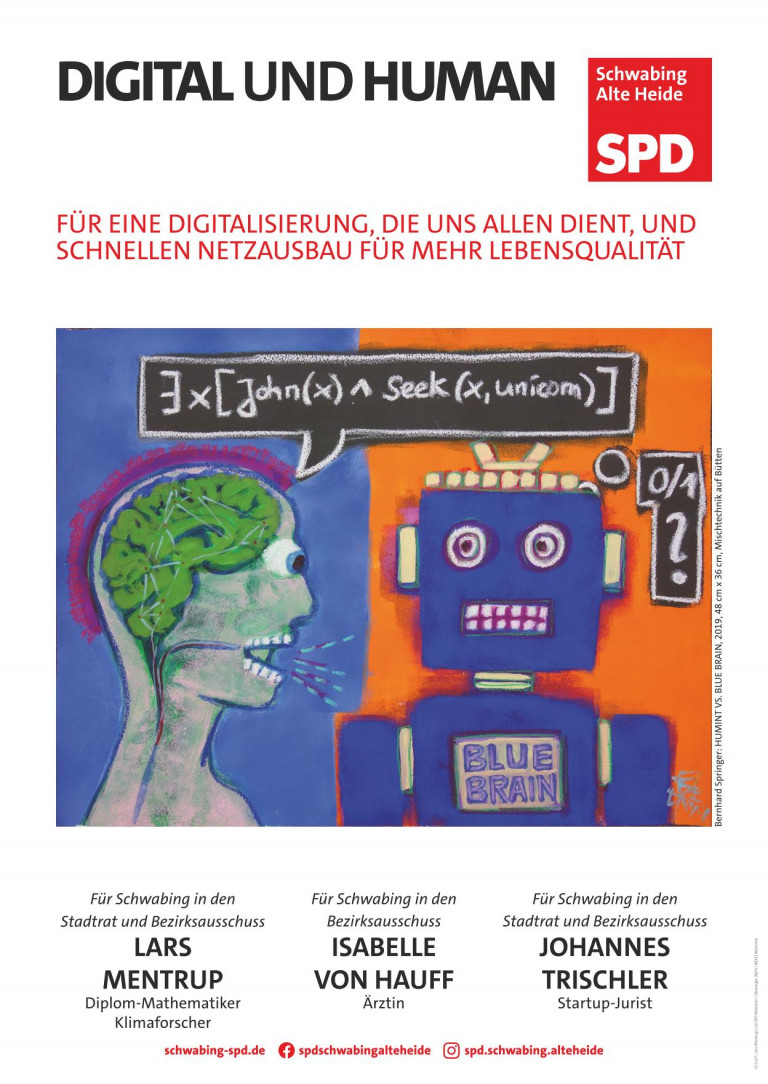 Digital und Human -- Bernhard Springer: HumInt vs. BlueBrain, 2019