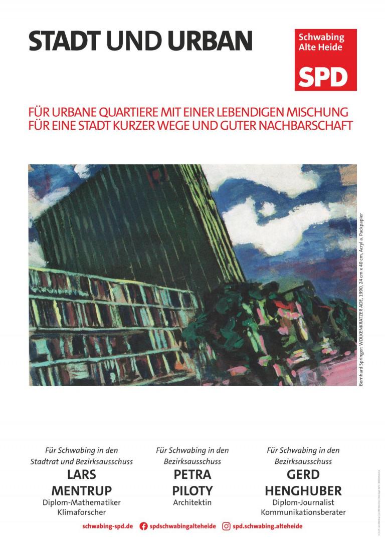 Stadt und Urban -- Bernhard Springer: Wolkenkratzer Ade, 1990